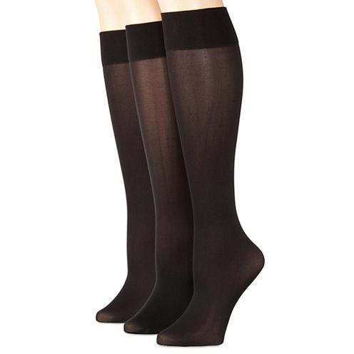 Mixit 3pk Flat Knit Trouser Socks - Extended Size