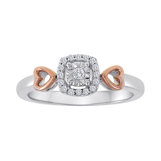 1/10 CT. T.W. Diamond Two-Tone Ring
