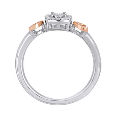 1/10 CT. T.W. Diamond Two-Tone Ring