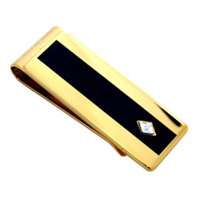 Enamel & Diamond Gold-Tone Money Clip
