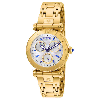 Invicta Subaqua Womens Gold Tone Stainless Steel Bracelet Watch 24428