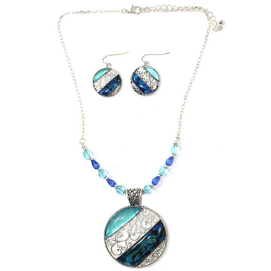 Mixit™ Blue Stone Necklace and Earrings Set