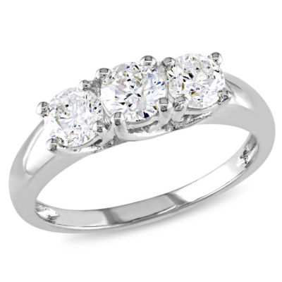 1 CT. T.W. Round White Diamond 14K Gold 3-Stone Ring