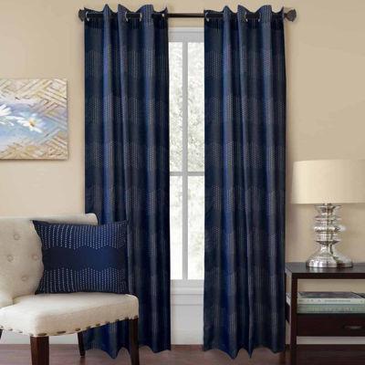 Homewear Chevron Grommet-Top Curtain Panel