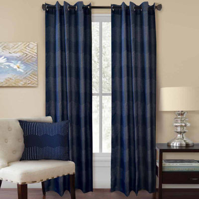 Homewear Chevron Grommet-Top Curtain Panel