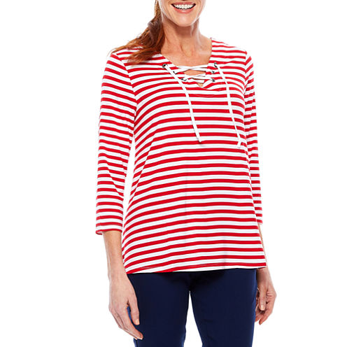 Sag Harbor Stars And Stripes Tunic Top