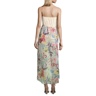 City Triangle Sleeveless Maxi Dress-Juniors
