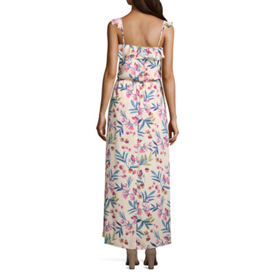 City Triangle Sleeveless Floral Maxi Dress-Juniors