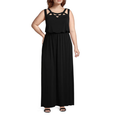 R & K Originals Sleeveless Maxi Dress - Plus
