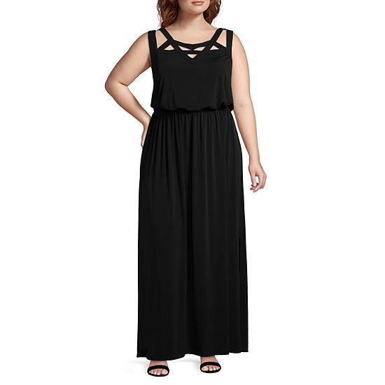 R & K Originals Sleeveless Maxi Dress - Plus