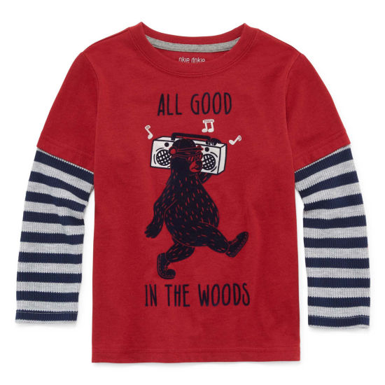 Okie Dokie Graphic T-Shirt-Toddler Boys 2T-5T