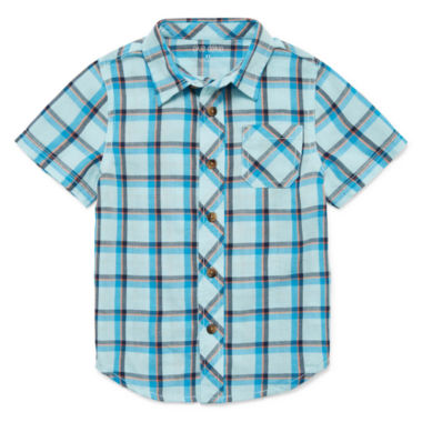 Okie Dokie Short Sleeve Button-Front Shirt Boys