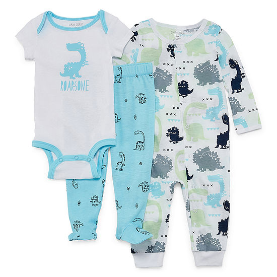 Okie Dokie 3-pc. Bodysuit Set-Baby Boys