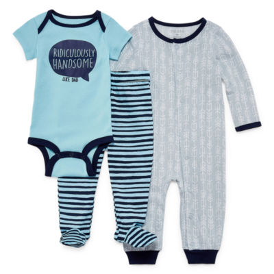 Okie Dokie Boys 3-pc. Bodysuit Set-Baby