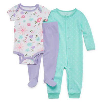 Okie Dokie Floral 3-pc. Layette Set-Baby Girls NB-9M