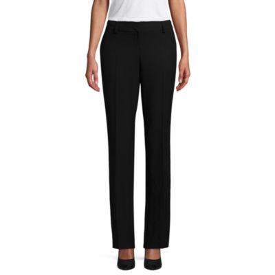 Worthington Womens Curvy Fit Straight Trouser