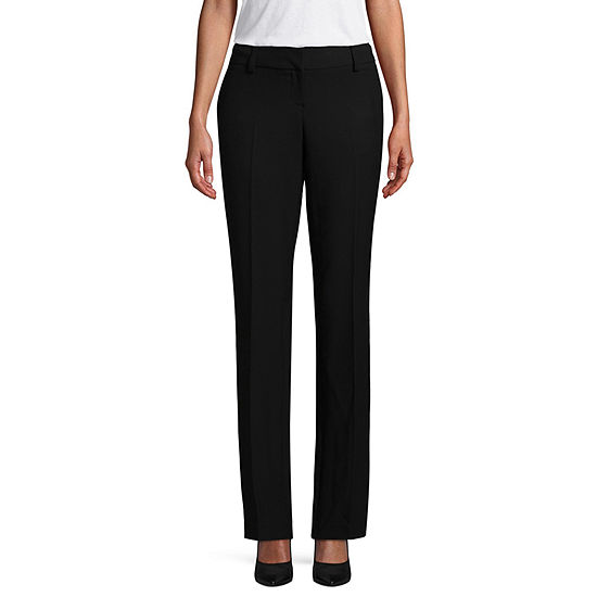 Worthington Womens Curvy Fit Straight Trouser