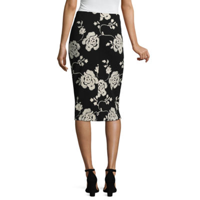 Weslee Rose Womens Midi Pencil Skirt