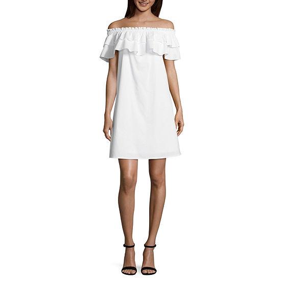 Belle + Sky Ruffle Off The Shoulder Dress