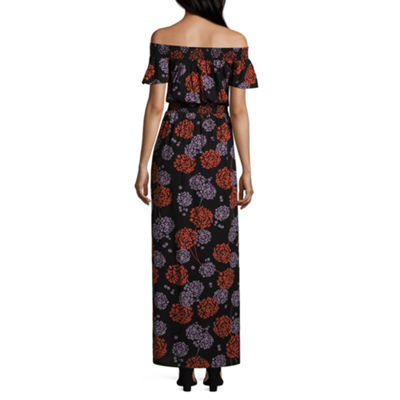 a.n.a. Off The Shoulder Bordered Maxi Dress