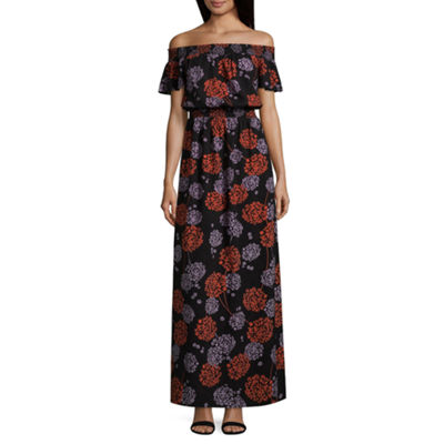 A.N.A Smocked Off the Shoulder Maxi - Tall