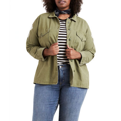 Levi's® Embroidered Long Sleeve Button Front Shirt - Plus