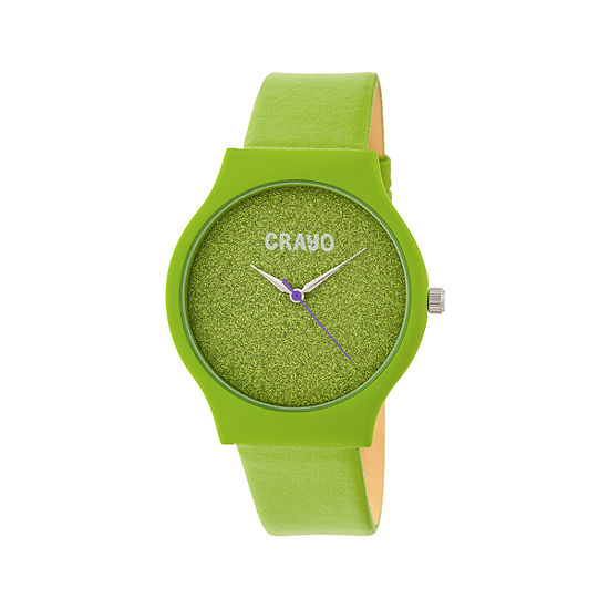 Crayo Unisex Adult Green Strap Watch-Cracr4503