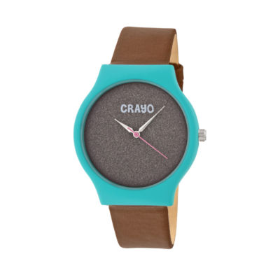 Crayo Unisex Brown Strap Watch-Cracr4505