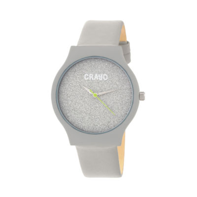 Crayo Unisex Gray Strap Watch-Cracr4506