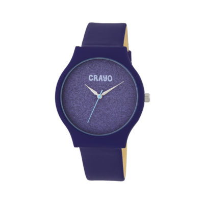 Crayo Unisex Purple Strap Watch-Cracr4507