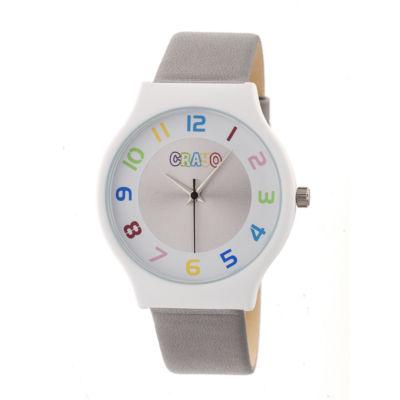 Crayo Unisex Gray Strap Watch-Cracr4601