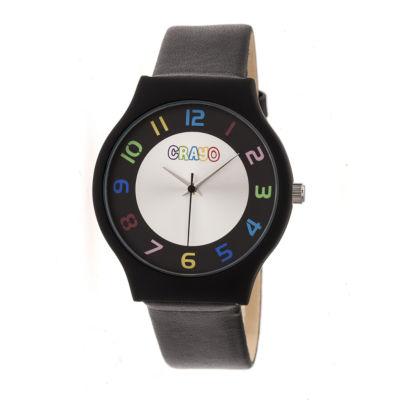 Crayo Unisex Black Strap Watch-Cracr4602
