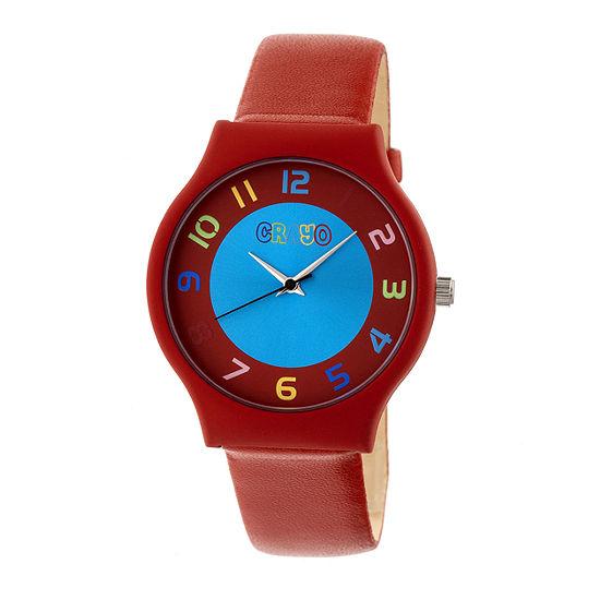 Crayo Unisex Adult Red Strap Watch-Cracr4603