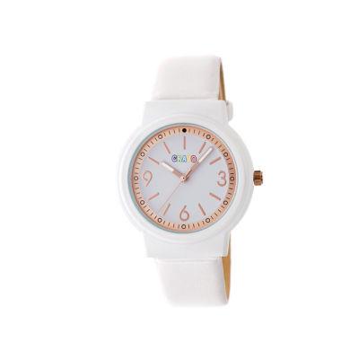 Crayo Unisex White Strap Watch-Cracr4701