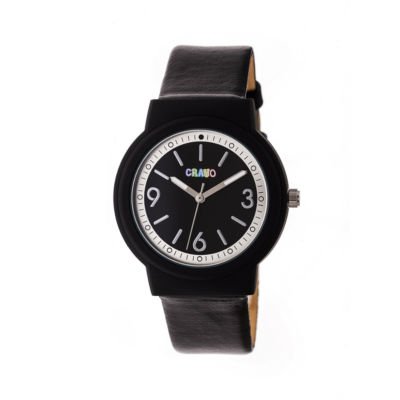 Crayo Unisex Black Strap Watch-Cracr4702