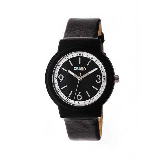 Crayo Unisex Black Strap Watch-Cracr4702