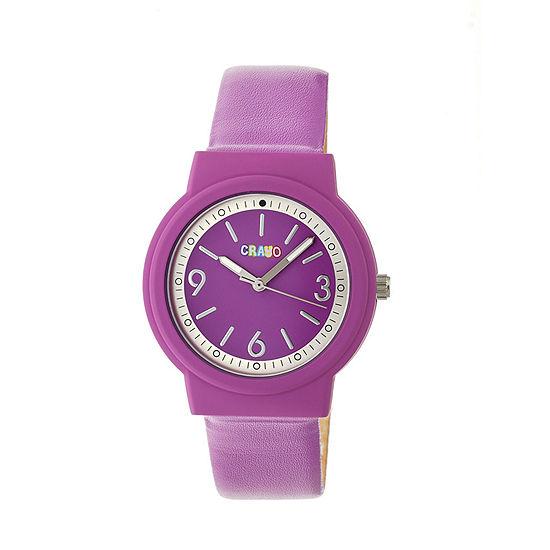 Crayo Unisex Purple Strap Watch-Cracr4706