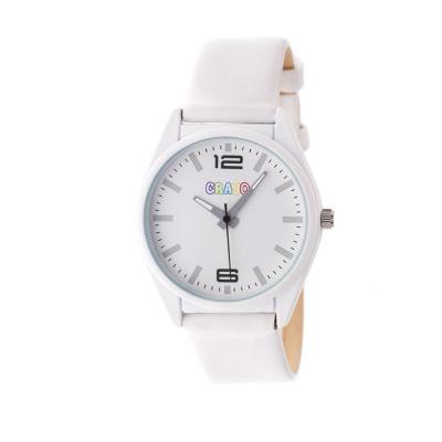 Crayo Unisex White Strap Watch-Cracr4801