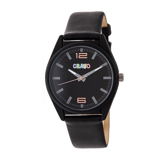 Crayo Unisex Black Strap Watch-Cracr4802
