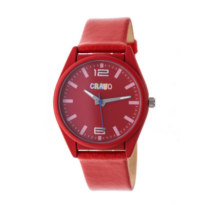 Crayo Unisex Red Strap Watch-Cracr4803
