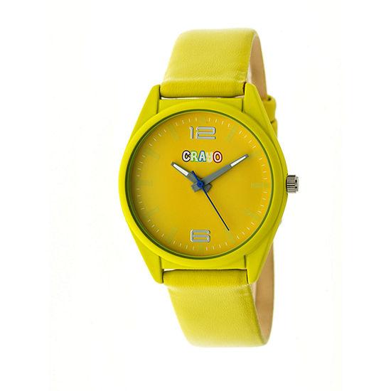 Crayo Unisex Adult Yellow Strap Watch-Cracr4804