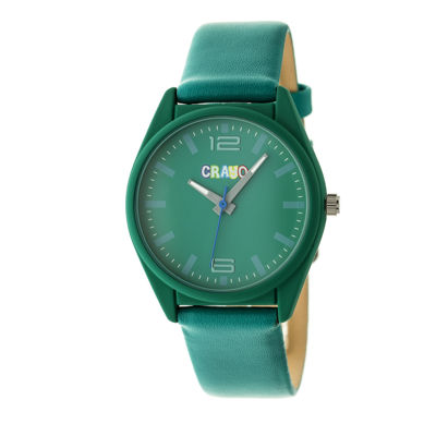 Crayo Unisex Green Strap Watch-Cracr4805