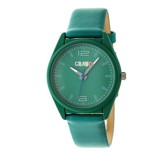 Crayo Unisex Adult Green Strap Watch-Cracr4805