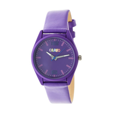 Crayo Unisex Purple Strap Watch-Cracr4806
