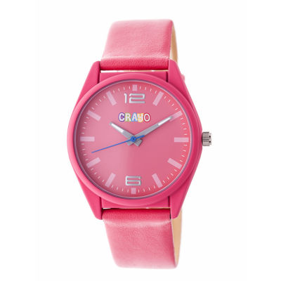 Crayo Unisex Pink Strap Watch-Cracr4807