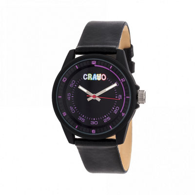 Crayo Unisex Black Strap Watch-Cracr4901