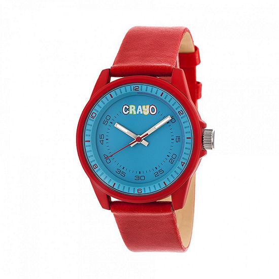 Crayo Unisex Adult Red Strap Watch-Cracr4902