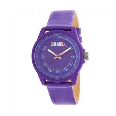 Crayo Unisex Purple Strap Watch-Cracr4904