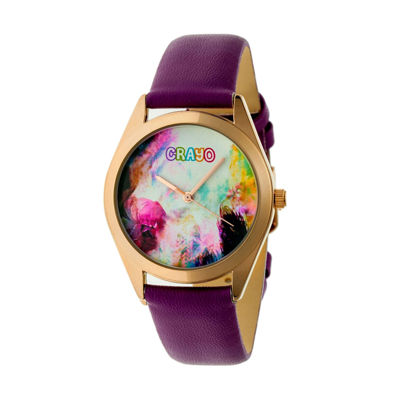 Crayo Unisex Purple Strap Watch-Cracr4006