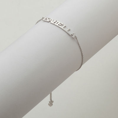 Personalized Womens Sterling Silver Link Bracelet